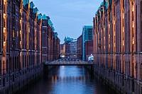 Warehouse district in Hamburg.