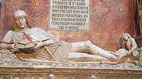 The Gothic sepulchre of the Doncel, XVth century, in the Cathedral. Sigüenza town, Guadalajara province, Spain