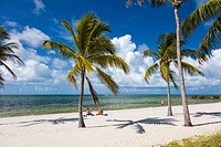 Smathers Beach ion the Atlantic Ocean in Key West Florida.