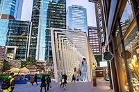 modern architecture at Barangaroo, Sydney.
