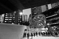 entrance to Wynyard Walk and modern architecture at Barangaroo, Sydney.