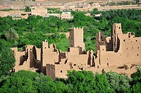 Kasbah in ruins. Kelaa M´gouna. High Atlas. Morocco