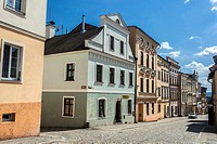 Broumov, Czech Republic, street of Old Town.