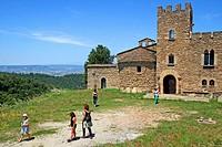 Castle monastery of Sant Llorenç del Munt, Osona, Catalonia, Spain