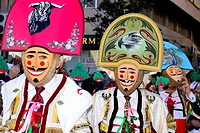 """Cigarrons of Verin, mask of the Entroido """"""""carnival"""""""" in Verin, Orense, Spain."""