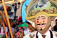 "Cigarrons of Verin, mask of the Entroido """"carnival"""" in Verin, Orense, Spain."