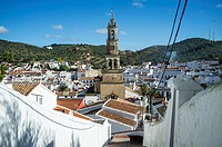 View of Constantina, Seville province, Andalusia, Spain