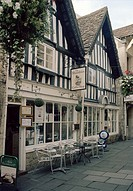 The Shambles in Bradford on Avon in Wiltshire in England in Great Britain in the United Kingdom.