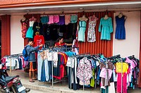 Second hand clothing store, Rizal Avenue, Puerto Princesa, Palawan, Philippines