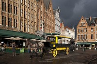 "Bruges Horse Tram Paardentram. The coachmen business Dirk Stael is the only one in Bruges that manages """"the Horse tram"""". These tram-cars , pulled by..."