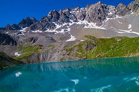 lake sainte anne qeyras in hautes alpes in france.