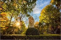Autumn at the Royal Botanical Garden. Madrid. Spain.