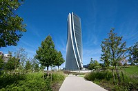Italy, Lombardy, Milan, CityLife, Hadid Tower designed by Zaha Hadid Architect.