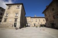 Europe, Italy, Bologna, Castiglion dei Pepoli city, a square.