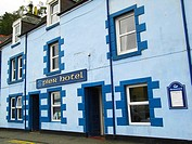 Hotel and Restaurant in Portree, Skye island, Inner Hebrides, Scotland, UK.