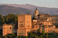 Spain, Andalusia, Granada, World Heritage Site, The Alhambra and Sierra Nevada.