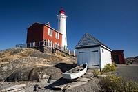 Fisgard Lighthouse and Fort Rodd Hill, Victoria, Vancouver Island, British Columbia, Canada.