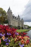 Josselin Castle, Josselin, Morbihan, Brittany, France, Europe.