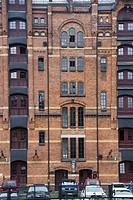 1920s warehouse district of Speicherstadt, Hamburg, Germany.