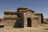 Visigothic church of San Pedro de la Nave made of red sandstone, Seventh Century, Historic and Artisitc National Monument, El Campillo, province of Za...