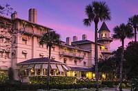 Jekyll Island Club Hotel at Sunset, Jekyll Island, Georgia.