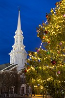 North Church at Christmas, Portsmouth, New Hampshire.