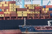 Cargo containers, Port of Bahía de Algeciras,Andalucia, Spain.