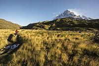 cerro Paine Grande, 3050 metros, trekking W, Parque nacional Torres del Paine,Sistema Nacional de Áreas Silvestres Protegidas del Estado de Chile. Pat...