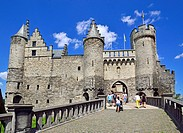 Antwerp, Belgium. Het steen castle - medieval fortress by the river. Antwerp's oldest building (12th / 13thC).