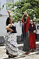 Spain, Andalusia, Granada, World Heritage Site, Albaicin district, Flamenco dancer.