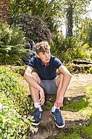 A teenage boy at Sandringham Estate in Norfolk , England , Britain , Uk.