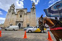 San Idelfonso cathedral, Colonial church in Merida, Yucatan (Mexico, Central America).