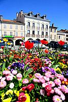Square of the Flowers of Montrejeau, Midi-Pyrenees, France