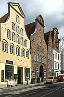 Merchants' houses in the Hanseatic trading port of Lubeck (Luebeck), northern Germany.