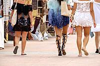 Flea market, Sa Savina, Formentera, Balearic Islands, Spain.