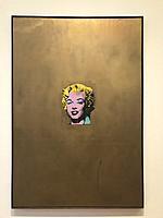 Andy warhol, gold marilyn monroe, the museum of modern art, MoMA, manhattan, new york city, USA