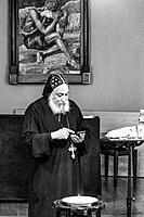 STOCKHOLM, SWEDEN Egyptian Coptic Bishop Thomas giving a talk in Stockholm.