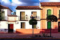 traditional architecture, Plaza de San Juan, Villanueva de los Infantes, Ruta de Don Quijote, Ciudad Real, Castile-La Mancha, Spain, Europe