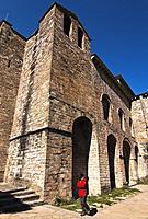 Romanesque Monastery. San Pedro de Siresa. Valle de Hecho. Aragonese Pyrenees. Huesca Province. Spain.