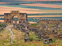 Morocco, Meknes,  the roman ruins of Volubilis.
