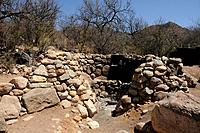 An intertribal sweat lodge site, blessed by a Navajo medicine man Dan Chee, has been used for Native American ceremonies in Montosa Canyon, Santa Rita...