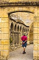 Cordeliers cloister of Franciscan Convent, XIV Century, Saint-Emilion Bordeaux wine region. Aquitaine Region, Gironde Department. France Europe.