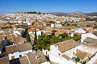 Panoramic view, Antequera. Málaga province, Andalusia. Southern Spain Europe.