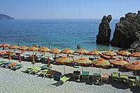beach in Monterosso al Mare, Cinque Terre, Liguria, Italy