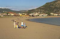 the beach of Bosa Marina, Sardinia, Italy