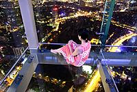 Aerial view of central Hanoi city from Lotte tower observation deck, Hanoi, Vietnam.