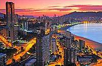 Benidorm at dawn.