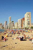 Levante beach. Benidorm, Alicante.