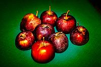 ripe apples from El Sauzal (Tenerife island)