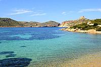 Cabrera Archipelago National Park, Natural harbor. Majorca, Balearic Islands, Spain.